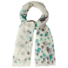 Buy White Stuff Flock of Birds Scarf, Off White Online at johnlewis.com