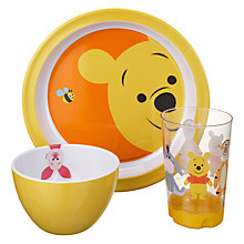 Buy Disney Winnie The Pooh Melamine Dining Set, 3 Piece Online at johnlewis.com