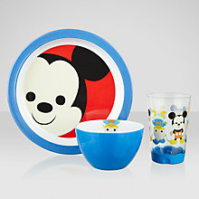 Buy Disney Mickey Mouse Melamine Dining Set, 3 Piece Online at johnlewis.com