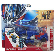 Buy Transformers 4: Age Of Extinction One Step Changer, Assorted Online at johnlewis.com