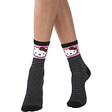 Buy Pretty Polly Hello Kitty Bow Ankle Socks, Pack of 2, Multi Online at johnlewis.com