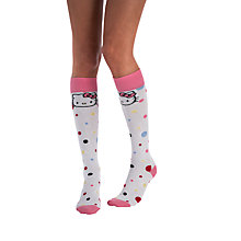 Buy Pretty Polly Hello Kitty Confetti Knee High Socks, Multi Online at johnlewis.com