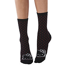 Buy Pretty Polly Hello Kitty Face Ankle Socks, Pack of 2, Multi Online at johnlewis.com