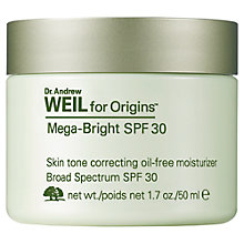 Buy Dr. Andrew Weil Mega-Bright SPF30 Skin Tone Correcting Moisturizer, 50ml Online at johnlewis.com