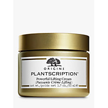 Buy Origins Plantscription™ Powerful Lifting Cream, 50ml with Free Plantscription™ Anti-Aging Cleanser, 150ml Online at johnlewis.com