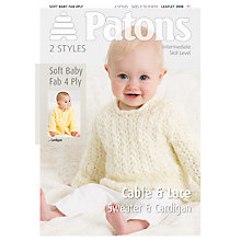 Buy Patons Soft Baby Fab 4 Ply Leaflet, 3898 Online at johnlewis.com