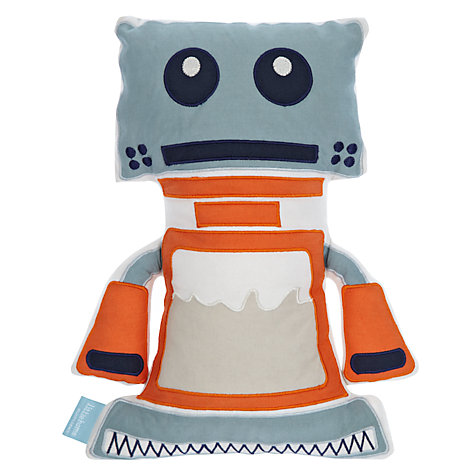 Buy little home at John Lewis Robotica Robot Cushion Online at johnlewis.com