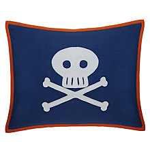Buy little home at John Lewis Waves & Whales Skull and Crossbones Cushion Online at johnlewis.com