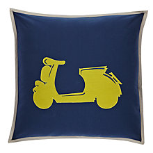 Buy little home at John Lewis Here, There & Everywhere Vespa Cushion Online at johnlewis.com