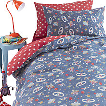 Buy Cath Kidston Outer Space Single Duvet Cover and Pillowcase Set Online at johnlewis.com