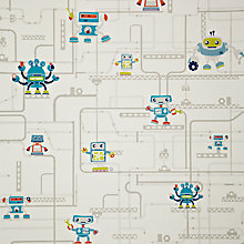 Buy little home at John Lewis Robotica Robots and Pipes Wallpaper Online at johnlewis.com