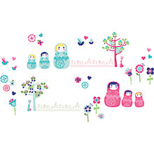 Buy little home at John Lewis Dots & Dolls Wall Stickers Online at johnlewis.com