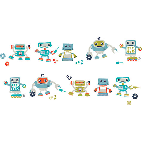 Buy little home at John Lewis Robotica Wall Stickers Online at johnlewis.com