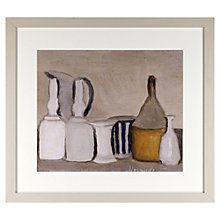 Buy John Lewis Croft Collection, Giorgio Morandi - Still Life Bottle & Pitcher Framed Print, 37 x 42cm Online at johnlewis.com