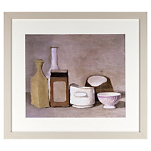 Buy John Lewis Croft Collection, Giorgio Morandi - Still Life 1944 Framed Print, 37 x 42cm Online at johnlewis.com