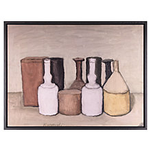 Buy John Lewis Croft Collection, Giorgio Morandi - Natura Morta 1953 Print on Canvas, 64.5 x 84.5cm Online at johnlewis.com