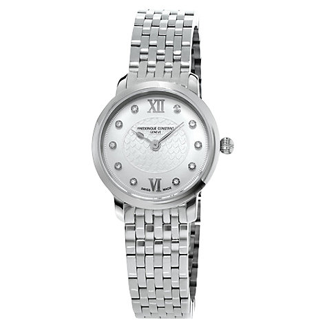 Buy Frédérique Constant Women's Slim Line Diamond Watch Online at johnlewis.com