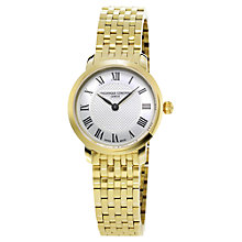 Buy Frédérique Constant FC-200MCS5B Women's Slim Line Bracelet Watch, Gold Online at johnlewis.com