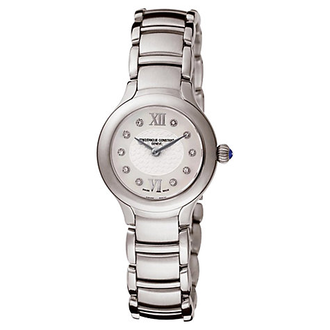Buy Frédérique Constant FC-200WHD1ER6B Women's Classic Delight Diamond Watch, Silver Online at johnlewis.com