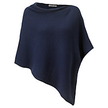 Buy Jigsaw Knitted Poncho, Midnight Online at johnlewis.com