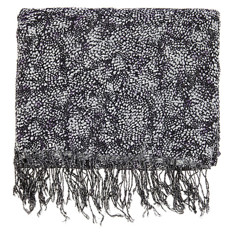 Buy Warehouse Petal Texture Scarf, Black / White Online at johnlewis.com