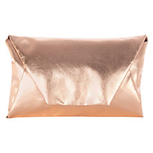 Buy Coast Metallic Pouch Bag, Gold Online at johnlewis.com