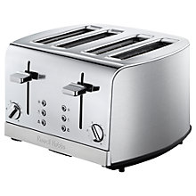 Buy Russell Hobbs Deluxe 4-Slice Toaster, Silver Online at johnlewis.com