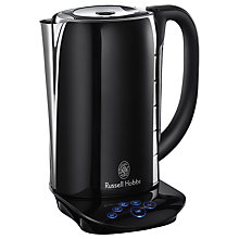Buy Russell Hobbs Touch Kettle, Black Glass Online at johnlewis.com