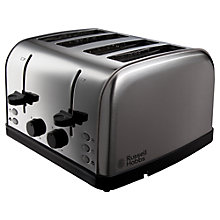 Buy Russell Hobbs Futura 4-Slice Toaster, Silver Online at johnlewis.com