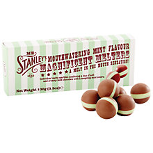 Buy Mr Stanley's Milk Chocolate Mint Melts, 100g Online at johnlewis.com