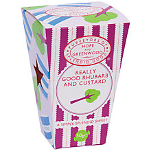 Buy Hope & Greenwood Rhubarb & Custard Mini Box, 60g Online at johnlewis.com