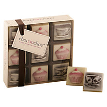 Buy Choc on Choc 9 Block Cupcake and Tea Chocolate Box, 90g Online at johnlewis.com