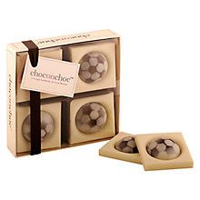 Buy Choc on Choc 4 Block Football Chocolate Box, 90g Online at johnlewis.com