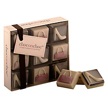 Buy Choc on Choc 9 Block Heels and Handbag Chocolate Box, 110g Online at johnlewis.com