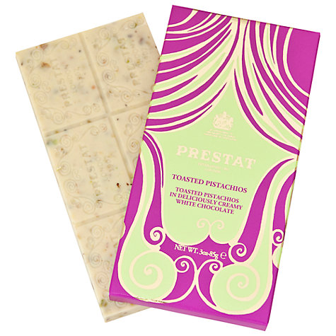 Buy Prestat Toasted Pistachio White Chocolate Bar, 85g Online at johnlewis.com
