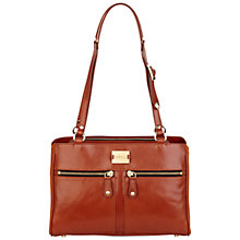 Buy Modalu Small Pippa Leather Shoulder Handbag, Toffee Online at johnlewis.com