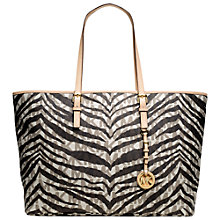 Buy MICHAEL Michael Kors Jet Set Travel Tote Bag, White Online at johnlewis.com