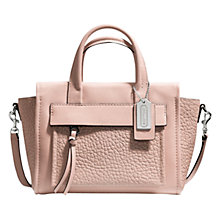 Buy Coach Bleecker Mini Riley Leather Grab Handbag, Peach Online at johnlewis.com
