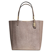 Buy Coach Madison Leather Large Tote Handbag, Taupe Online at johnlewis.com