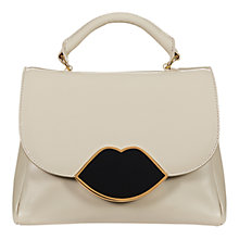 Buy Lulu Guinness Izzy Leather Satchel, Stone Online at johnlewis.com