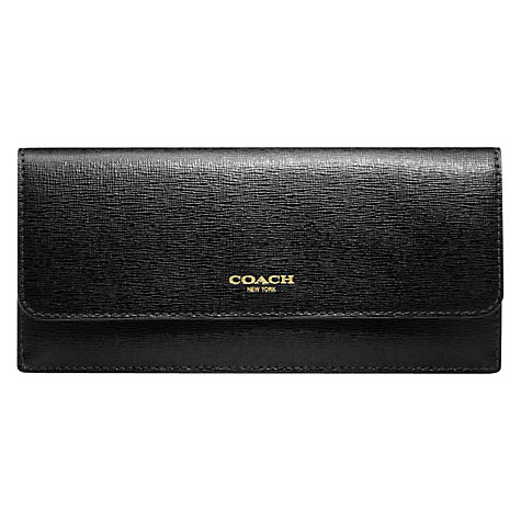 Buy Coach Saffiano Leather Soft Wallet Online at johnlewis.com