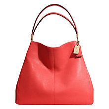 Buy Coach Madison Phoebe Small Leather Hobo Handbag, Red Online at johnlewis.com