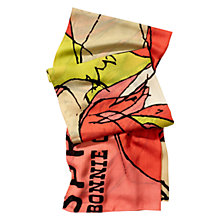 Buy Coach Bonnie Oblong Scarf, Coral Online at johnlewis.com