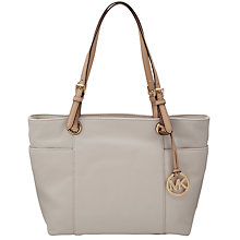 Buy MICHAEL Michael Kors Jet Set Leather Tote Handbag, Vanilla Online at johnlewis.com