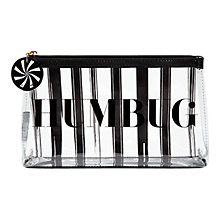 Buy Lulu Guinness Clear Humbug T-Seam Cosmetic Bag, Black Online at johnlewis.com
