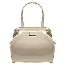 Buy Lulu Guinness Paula Large Leather Tote Bag, Stone Online at johnlewis.com