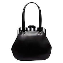 Buy Lulu Guinness Pollyanna Leather Tote Handbag, Black Online at johnlewis.com