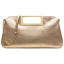 Buy MICHAEL Michael Kors Berkley Large Leather Clutch Handbag, Gold Online at johnlewis.com