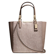 Buy Coach Madison Leather Mini Tote Handbag, Taupe Online at johnlewis.com