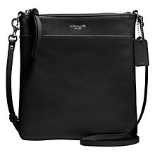 Buy Coach Bleecker North/South Leather Swingpack Acrossbody Handbag, Black Online at johnlewis.com